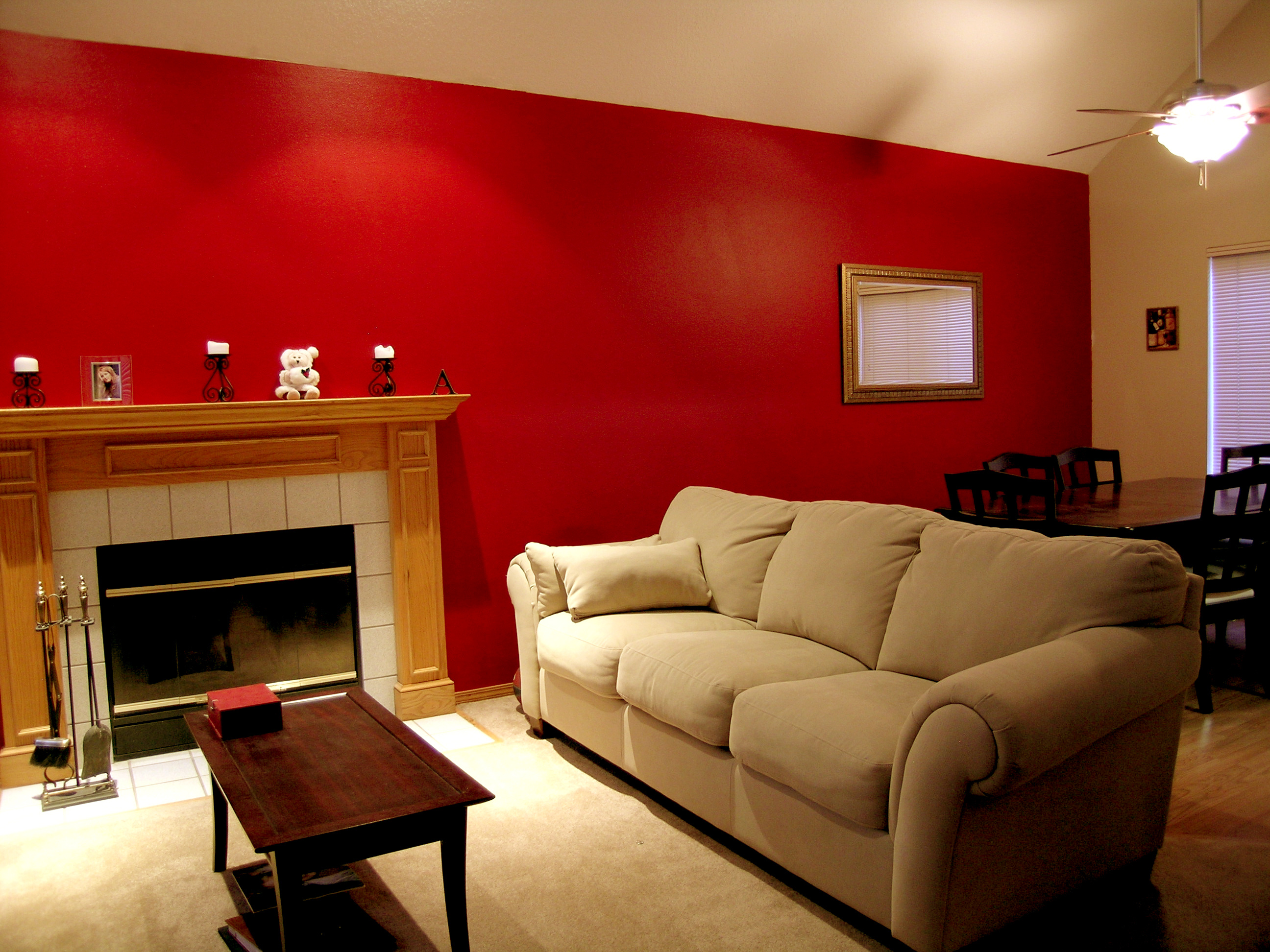 red living room
